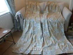 Laura Ashley Summer Rose Charcoal Gold & Cream Rideaux De Linge Lourd 64 W X 88