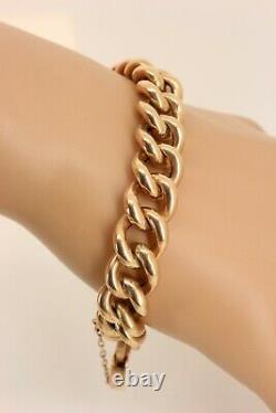 Lourd 19. Gr Victorian / Edouardian 9ct Bracelet En Or Rose (courbe). Superbe