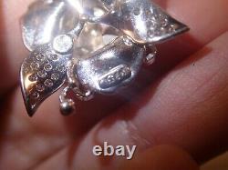 Lourdes Boucles D'oreilles Rose Saphir Rose Diamant 18k Or Blanc 5.3tcw 22.2g