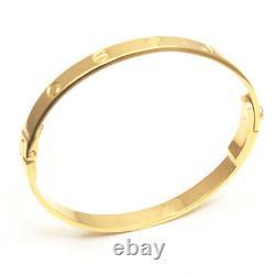 Love Bangle Heavy Handmade Bracelet 25g Uk Hallmarked 9 Carats Or