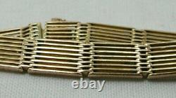 Magnifique Victorien Solide 9 Carat Rose Gold Gate Bracelet