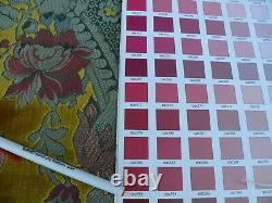 Par Yd Scalamandre Vieux Monde Weavers Tosca Velours Coupé En Soie Or Rose Rouge Msrp956 $