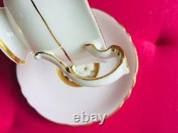Paragon Belle Rose Garland Sur Rose Teacup & Saucer Heavy Gold