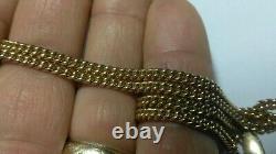 Reservedsolid Lourd 14k Rose Or 3mm Chaîne De Bordure Cubaine 19,78 Grammes 21,25 De Long