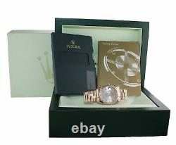 Rolex President Day Date Rose Gold 36mm 118235 Diamond Heavy Band Montre Box