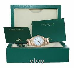 Rolex Président Day Date Rose Or 36mm 118235 White Roman Heavy Band Montre