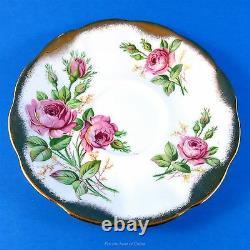 Royal Albert Heavy Gold Avec Pink Roses Tea Cup Et Soucoupe Set