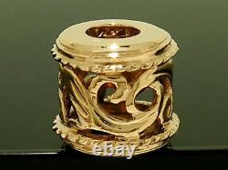 S Bd044 Genuine Heavy 9ct Solid Rose Or Style Baroque Filigrane Perle Achantus
