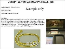 Solide 14k Rose Gold Men's Cuban Curb Link Chain Necklace 24 Heavy 311.6gr 13mm