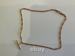 Stupéfiant 9ct Rose Gold Fancy T Bat Twisted Curb Link Chaîne 18 Heavy Dog Clip