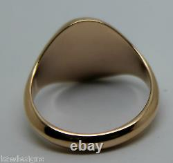 Taille S Kaedesigns Genuine 375 9kt 9ct Rose Gold Full Solid Heavy Signet Ring 318