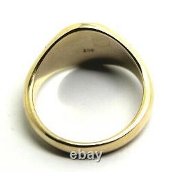 Véritable Lourd 375 Solide 9ct Blanc Ou Rose Or Jaune Or Anneau De Signet Ovale