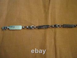 Victorian Révolution Industrielle 14k Rose Gold Lettre Chain Lource Maintenant 9 Bracelet