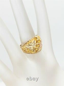 Vintage $1400 Black Hills 10k Rose Green Yellow Gold 15mm Band Ring 8g Heavy