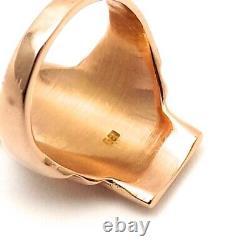 Vintage 18k Rose Gold Péruvien Tumi Warrior Ornate Heavy Solid Ring 10gr Sz6