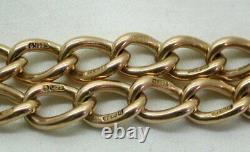 Vintage / Antique Gents / Ladies Heavy 9 Carats Rose Gold Albert Bracelet